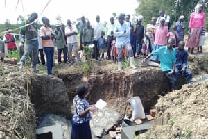 The Water Project: Lukova Community, Wasike Spring -  Spring Care Training