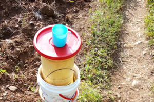 The Water Project: Bumira Community, Madegwa Spring -  Water Containers