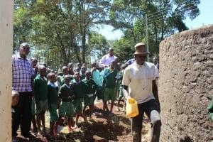 The Water Project: Bojonge Primary School -  Training On Tank Care