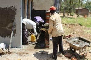 The Water Project: Khabukoshe Primary School -  Latrine Construction