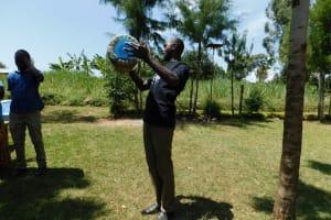The Water Project: Mukangu Community, Lihungu Spring -  Water Handling Training