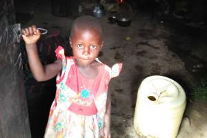 The Water Project: Sasala Community, Kasit Spring -  Little Girl Inside Kitchen