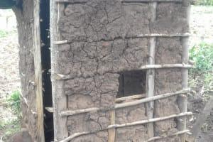 The Water Project: Imusutsu Community, Ikosangwa Spring -  Mud Latrine