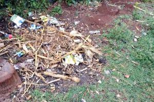 The Water Project: Shivembe Community, Murumbi Spring -  Garbage Disposal