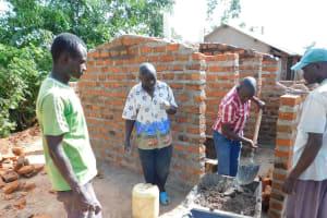 The Water Project: Namasanda Secondary School -  Latrine Construction