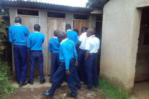 The Water Project: Kamimei Secondary School -  Boys Latrines