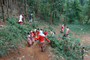 The Water Project: Kakamega Muslim Primary School -  Going Down To The Spring