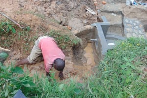 The Water Project: Musango Community, Ndalusia Spring -  Spring Construction