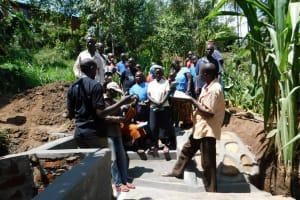 The Water Project: Mukangu Community, Lihungu Spring -  Spring Care Training