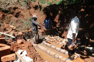 The Water Project: Shitsuvio Community, Shihevi Spring -  Spring Construction