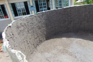The Water Project: Musango Mixed Secondary School -  Tank Construction