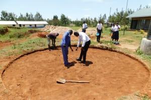 The Water Project: Namasanda Secondary School -  Tank Foundation Construction