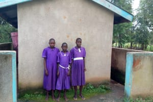 The Water Project: Chiliva Primary School -  Girls Latrines