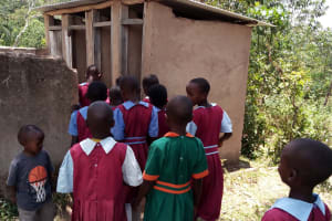 The Water Project: Kipchorwa Primary School -  At The Latrines