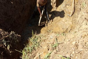The Water Project: Lukova Community, Wasike Spring -  Spring Excavation