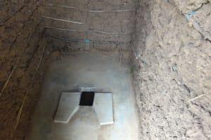The Water Project: Emulakha Community, Nalianya Spring -  Sanitation Platform In New Latrine