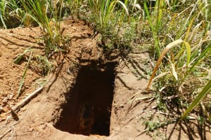 The Water Project: Bukhaywa Community, Asumani Spring -  New Latrine Pit