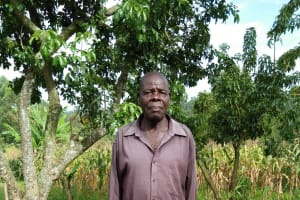 The Water Project: Sasala Community, Kasit Spring -  Peter Kasiala Kasit