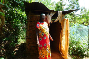 The Water Project: Ebutindi Community, Tondolo Spring -  Mud Latrine