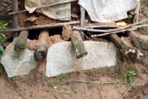 The Water Project: Kisasi Community, Edward Sabwa Spring -  Latrine