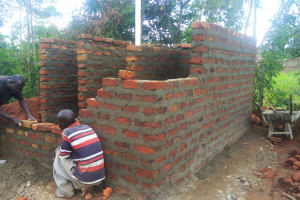 The Water Project: Ebubere Mixed Secondary School -  Latrine Construction