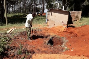 The Water Project: Bojonge Primary School -  Digging Pits For The Latrines