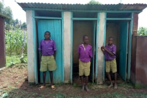 The Water Project: Chiliva Primary School -  Boys Latrines