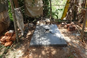 The Water Project: Ilala Community, Arnold Johnny Spring -  Sanitation Platform
