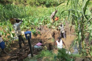 The Water Project: Mukangu Community, Lihungu Spring -  Excavation