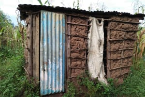The Water Project: Sasala Community, Kasit Spring -  Latrine