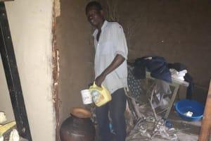 The Water Project: Buyangu Community, Osundwa Spring -  Getting Drinking Water