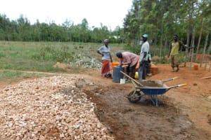 The Water Project: Namasanda Secondary School -  Construction
