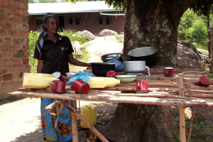 The Water Project: Kipchorwa Primary School -  Dishes Drying