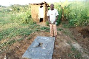 The Water Project: Musango Community, Ndalusia Spring -  Finished Sanitation Platform
