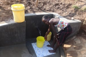 The Water Project: Emulakha Community, Nalianya Spring -  Flowing Water