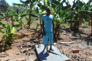 The Water Project: Bukhaywa Community, Asumani Spring -  Finished Sanitation Platform