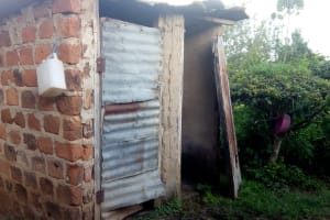 The Water Project: Shikangania Community, Abungana Spring -  Latrine