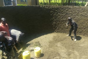 The Water Project: Ebubere Mixed Secondary School -  Tank Construction
