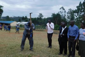 The Water Project: Lumakanda Township Primary School -  Minister Of Education Breaking First Ground