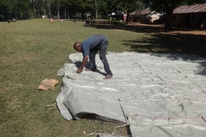 The Water Project: Irobo Primary School -  Working On The Tank Dome