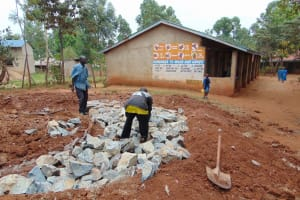 The Water Project: Kegoye Primary School -  Tank Foundation Construction