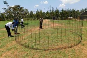 The Water Project: Namasanda Secondary School -  Tank Wire Mesh