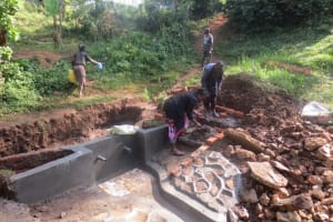 The Water Project: Rosterman Community, Kidiga Spring -  Spring Construction