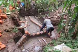 The Water Project: Mukangu Community, Lihungu Spring -  Spring Construction