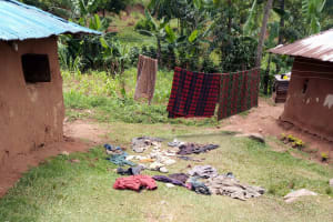 The Water Project: Shamakhokho Community, Imbai Spring -  Clothes Drying On The Ground