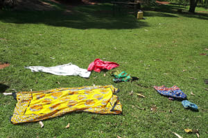 The Water Project: Buyangu Community, Osundwa Spring -  Clothes Drying