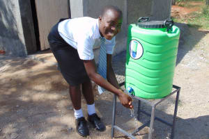 The Water Project: Ebubere Mixed Secondary School -  Handwashing Station By New Latrines