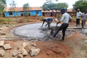 The Water Project: Majengo Primary School -  Tank Foundation