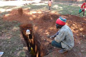 The Water Project: Irobo Primary School -  Sinking A Latrine Pit