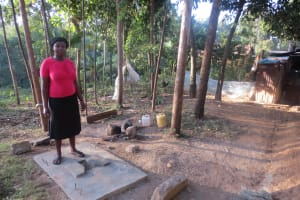 The Water Project: Rosterman Community, Kidiga Spring -  Sanitation Platform